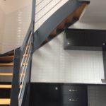 pose carrelages Métro  après pose escalier